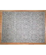 """9'x12'2"""" Pure Silk With Oxidized Wool Vaze Design HandKnotted Rug G41484 - $5,121.12"""