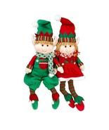 "SCS Direct Elf Plush Christmas Stuffed Toys- 18"" Boy and Girl Elves (Set... - $25.62"