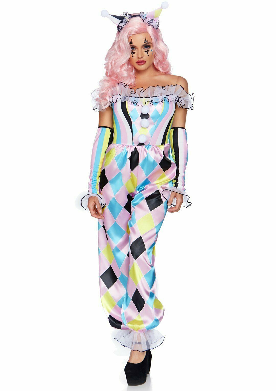 Leg Avenue Pretty Parisian Clown Pastel Adult Womens Halloween Costume 86865