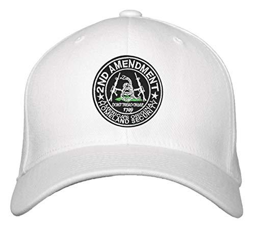 2nd Amendment Hat Pro-Gun Rights Don't Tread on Me Adjustable Cap - White