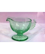 Westmoreland 1930's Art Deco Wings Green Footed Creamer - $37.79
