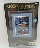 Dimensions The Gold Collection Petites Moonlit Cabin Counted Cross Stitc... - $15.00