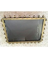 "Signed Modulus Brass Metal Freestanding Picture Frame 5 1/2"" X 4"" - $14.96"