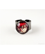 Kuroshitsuji Grell Sutcliff Anime Character Ring, Adjustable, Gunmetal, ... - $15.00