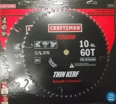 "Craftsman 29225 10"" x 60 & 40 Carbide Tooth Saw Blade Titanium 2 pk. - $31.68"