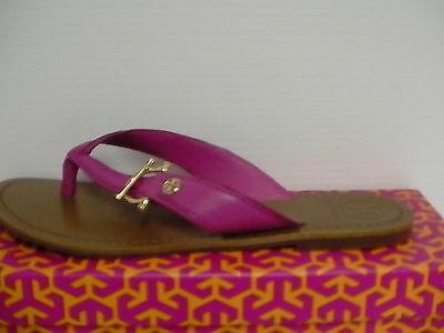 Women's Tory Burch Nora Flat Thong-Mestico Fuschia Pink size 8.5 us