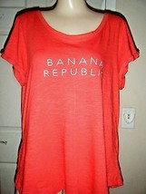 BANANA REPUBLIC ORANGE SHORT SLEEVE TOP SIZE XL - $16.44
