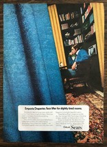 1972 Sears Print Ad Emporia Draperies Face Lifter for Slightly Tired Rooms - $10.34