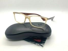Ray-Ban RB7047 5770 Transparent CREAM/BROWN Eyeglasses Frames 56-17-145MM - $77.57