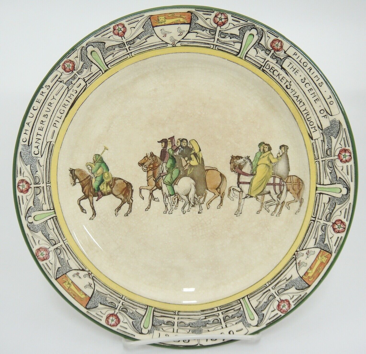 Royal Doulton Canterbury Tales Pilgrims Plate Beckets Martyrdom Antique Crazing - $70.53