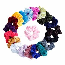 40 Pcs Velvet Multicolor Hair Scrunchies Winter Hair Band Ponytail Holder Rainbo