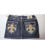 Laguna Beach Jean Co Denim Mini Skirt Clear AB Crystals Womens Size 25 - $24.74