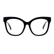 Super Oversized Clear Lens Glasses Womens Butterfly Frame Eyeglasses - £8.57 GBP