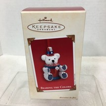 2003 Bearing the Colors Hallmark Christmas Tree Ornament MIB Price Tag H2 - $18.32