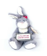 Boyds Razz Bearies Bunny Rabbit Plush Dyin N Lyin Little Gray Hair Never Hurt - $21.64
