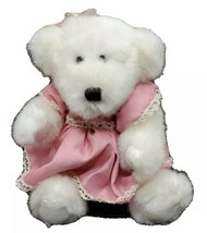 "Dan Dee Collector's Choice White Teddy Bear Girl With Pink Dress 10"" - $21.55"