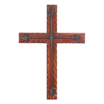 Wooden Cross Wall Decor, Rustic Decoration Wood Crosses For Walls - $48.50