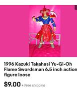 1996 Kazuki Takahasi Yu-Gi-Oh Flame Swordsman 6.5 inch Action Figure - $9.00