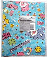 Vintage Care Bears Flat Gift Wrap 8.33 SF Single Sheet New Sealed AG Mad... - $11.89