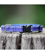 Saddle Stitch Royal Blue Grosgrain Adjustable Cat Collar from MontanaDog - $22.00