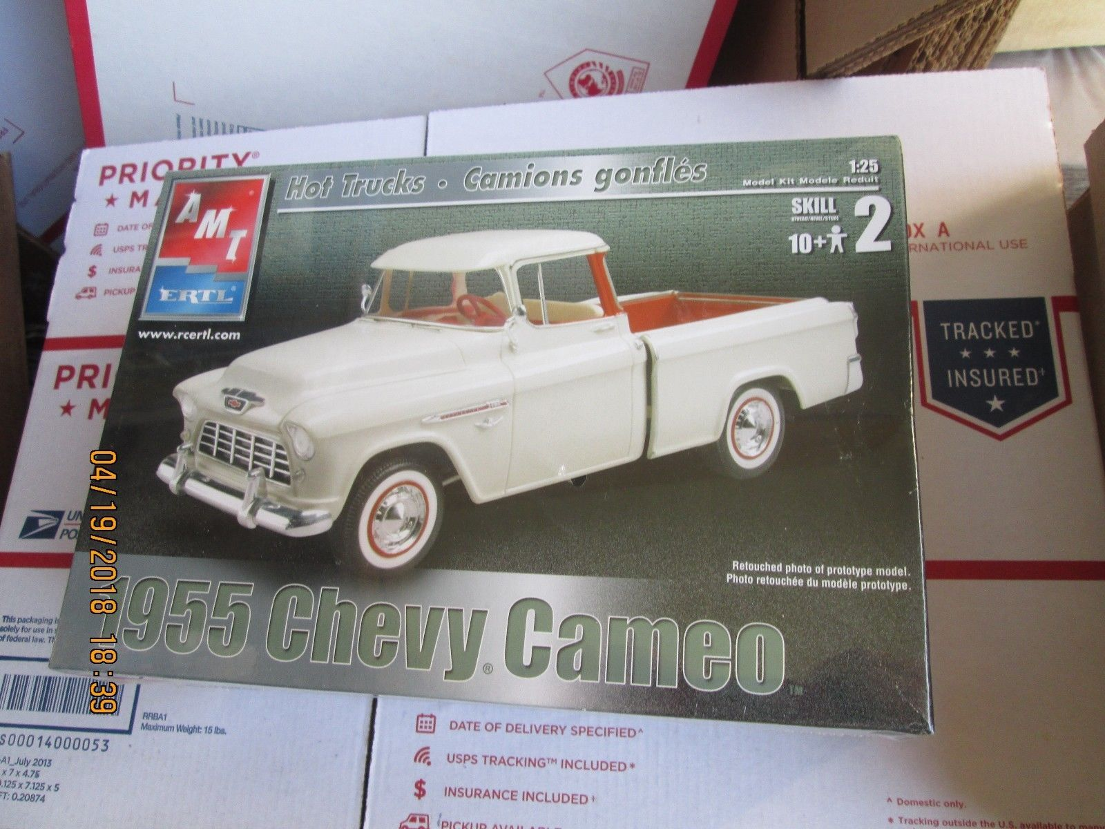AMT 1955 Chevy Cameo Pickup 1/25 scale