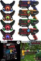 Laser Tag Blasters Vests Infrared Set of 4 Laser Tag Battle 150ft Shooti... - $173.45