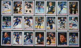 1991-92 Bowman Buffalo Sabres Team Set of 21 Hockey Cards - $4.00