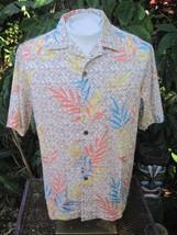 Hawaiian ALOHA shirt M pit to pit 24 CARIBBEAN cotton blend tropical fol... - $13.88