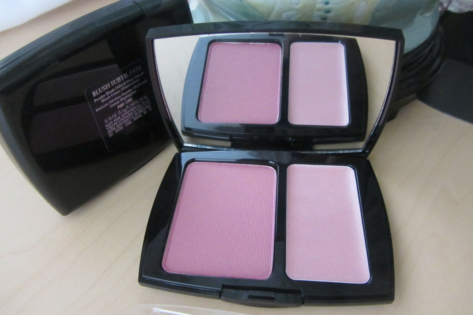 Primary image for FullSize New Lancome Blush Subtil Powder and Cream Highlighter in PINK CHIC