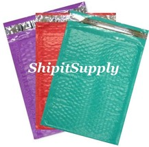 3-300 #0 6x10 ( Purple Teal & Red ) Color Poly Bubble Mailers Fast Shipping - $3.49+