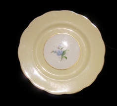 Royal Albert Bone China Bread & Butter Plate - Pale Yellow - Blue Forget... - $9.90