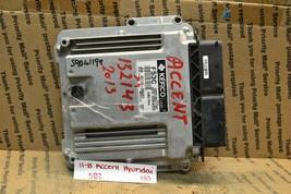 12-14 Hyundai Accent Engine Control Unit ECU 391102BAS1 Module 733-5b2 - $15.99