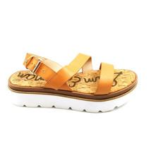 Sam Edelman Womens Rasheed Leather Platform Slingback Sandals Natural 9.5 New - $49.49