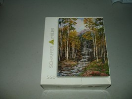 Schaefer Miles - RoseArt Jigsaw Puzzle 550 Pieces Aspen Cascade Brand Ne... - $14.84