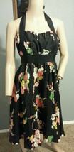 Moulinette Soeurs Anthropologie Strapless Floral Bouquets Go See Silk Dress S 2 - $56.99