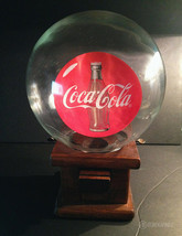 Vintage 1970s Coca-Cola Gumball/Candy Dispenser with Glass Globe Topper ... - $64.99