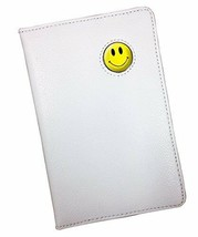 PINK OR YELLOW SMILEY CRESTED WHITE LEATHER SCOREMASTER GOLF SCORECARD H... - $13.90