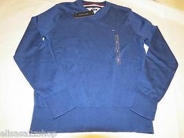 Mens Tommy Hilfiger long sleeve sweater shirt v neck 7864540 Twlght Blue... - $29.21