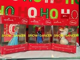Hallmark Elsa - Anna - Olaf - Set Of 3 Disney Frozen Hallmark Ornaments - $39.99