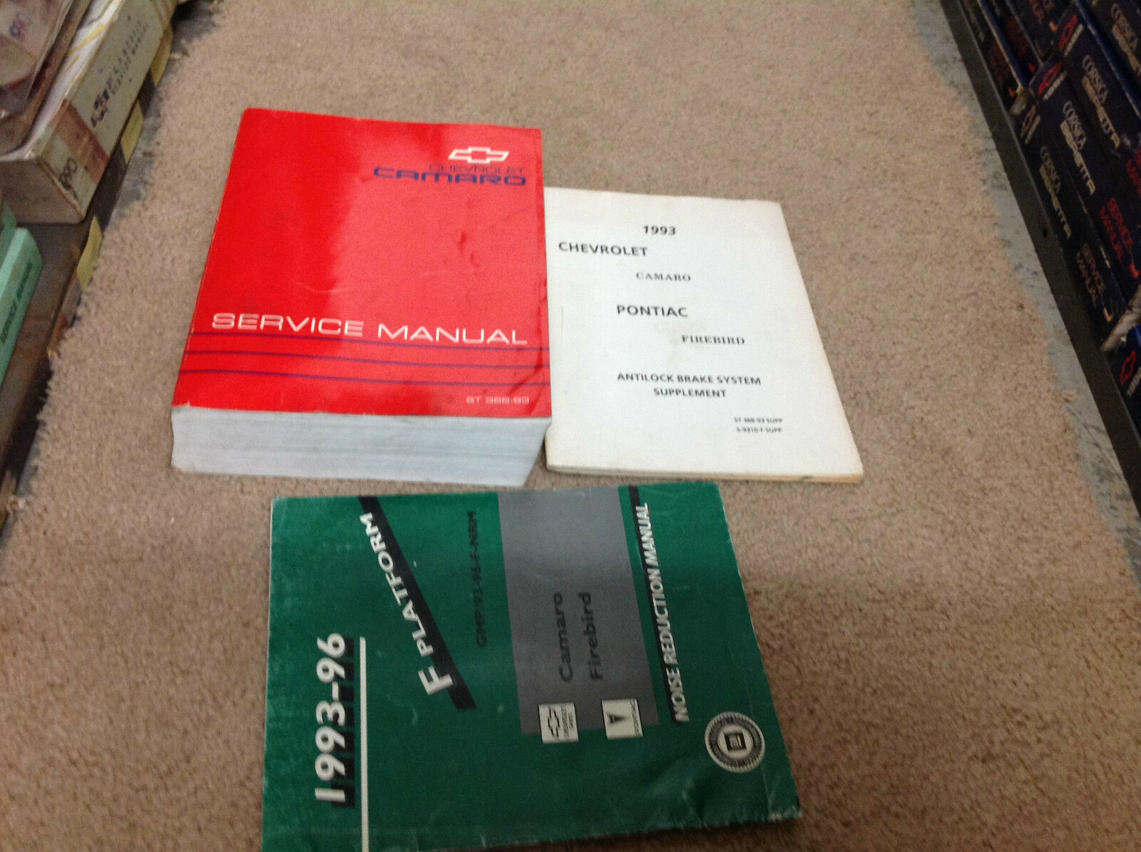 Primary image for 1993 GM Chevrolet Chevy Camaro Service Shop Repair Manual Set W Supplements OEM