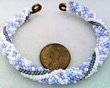 Winter colors bead crochet on copper bracelet thumb155 crop