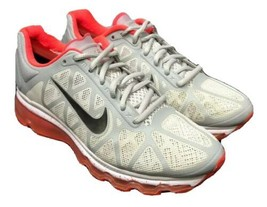 Nike AIRMAX 2011 429890-061 Grey Solar Red White Womens Size 8.5 Fast Sh... - $63.69
