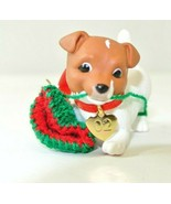 Hallmark Puppy Love Jack Russell Terrier 2002 Ornament - $19.79