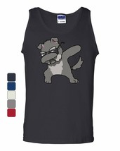 Dabbing Dog in Glasses Tank Top Doggie Dab Pet Lovers Pup Puppy Sleeveless - $8.89+