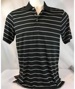 NEW Adidas golf men's puremotion textured stripe polo shirt black white  - $18.70+