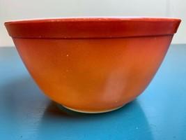 Vintage Pyrex #20 Orange Mixing Nesting Bowl Ovenware - USA Made - $19.31