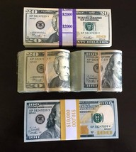 24.000 PROP MONEY REPLICA 100s 20s New Style All full Print For movie Video Etc. - $78.99