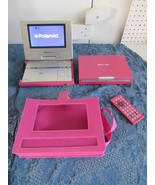 Polaroid DPA 07046P Portable DVD Player Lot of 2 Carrying Case Pink Remote - $78.33