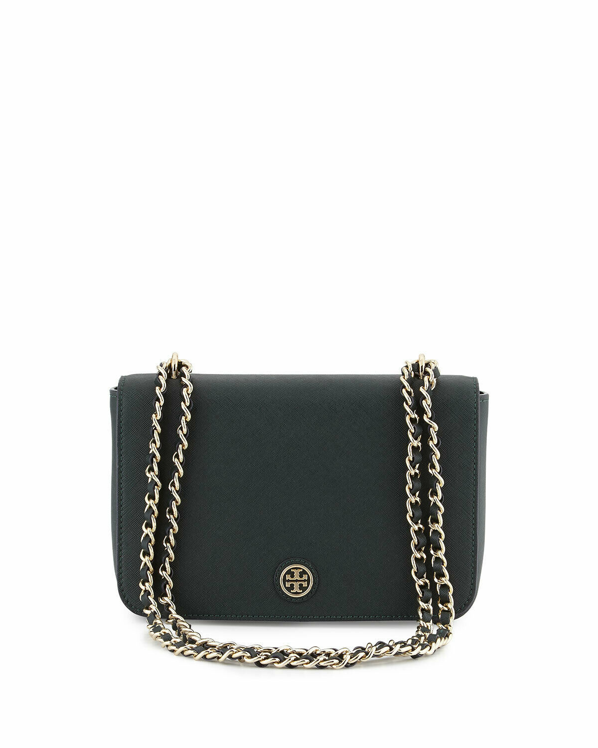 NWT Tory Burch Emerson Adjustable Shoulder Cross-body Bag Black 001