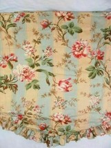 Waverly Amelia Floral Antique Stripe Ruffle 72 x 20 Lined Scallop Window... - $38.00